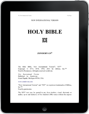The NIV 2010 Bible for Logos iPad – Finally! | Reading Acts