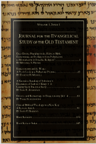 Journal for the Evangelical Study of the Old Testament 3.1 (2014)