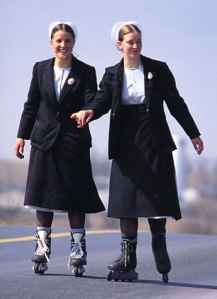 Amish Girls on Roller Skates