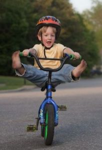 Fearless Kid on a Bike