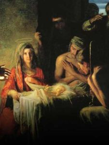 Mary and Joseph with Jesus in Bethlehem