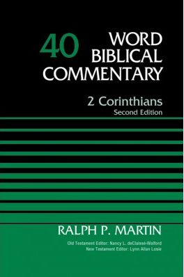 Book Review: Ralph P. Martin, 2 Corinthians (Second Edition)