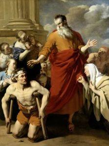 Paul healing a cripple at lystra