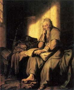 Paul in Prison Rembrandt