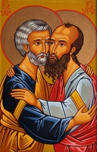 Peter and Paul hugging 2
