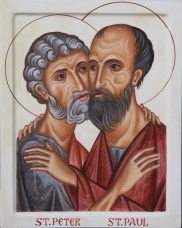 Peter and Paul Hugging