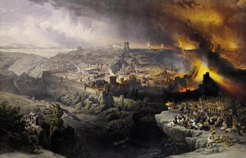 Fall of Jerusalem (David Roberts, 1850)