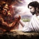 Jesus-Satan-Wresting