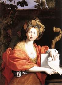 Depiction of a Sibyl by Domenichino, c. 1616-17
