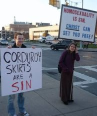 Corduroy skirts are a sin
