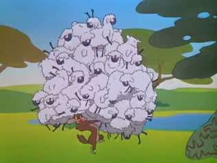 Wolf Stealing Sheep
