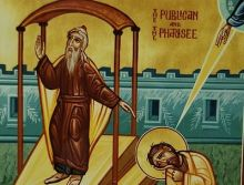 the tax collector and the pharisee, Greek icon