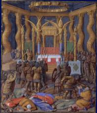 Popmey's Seige of Jerusalem, Painting by Jean Fouquet