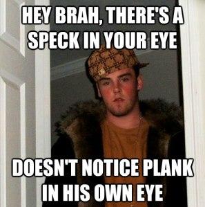 Speck in the eye meme