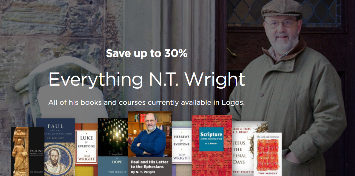 """Everything N. T. Wright"" Sale at Logos"