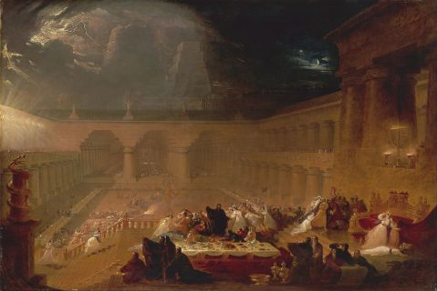 Feast of Belshazzar by John Martin (1789–1854)