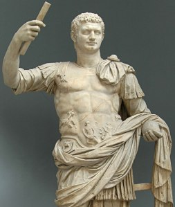 domitian holding a scroll