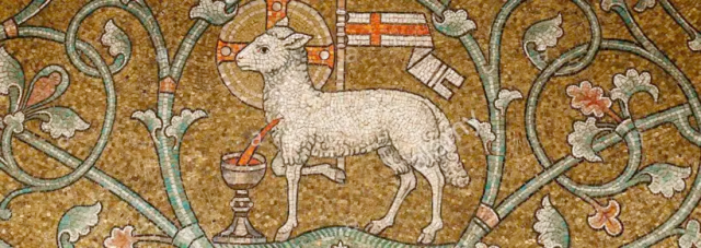 lamb of god at dormition abbey jerusalem