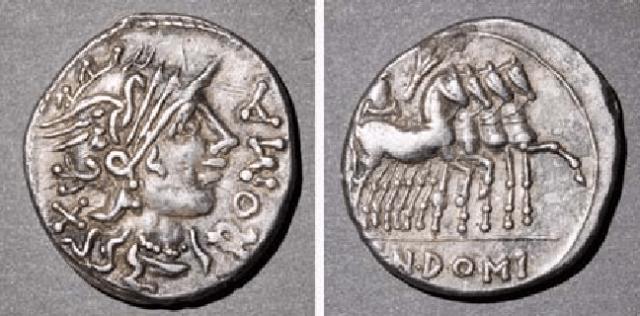 Denarius, Roma, four horsemen