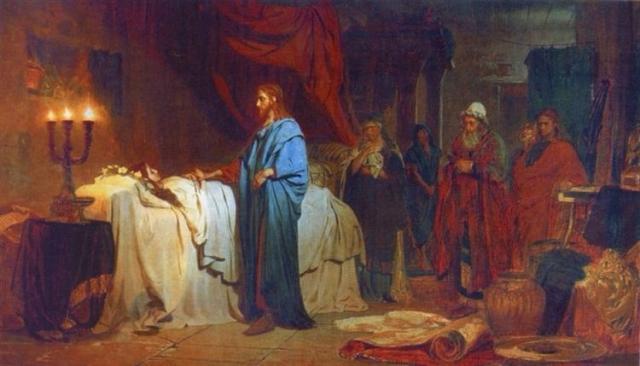Raising Jairus's Daughter (Ilya Repin; 1871)