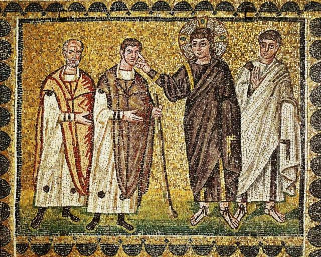 Christ heals two blind men